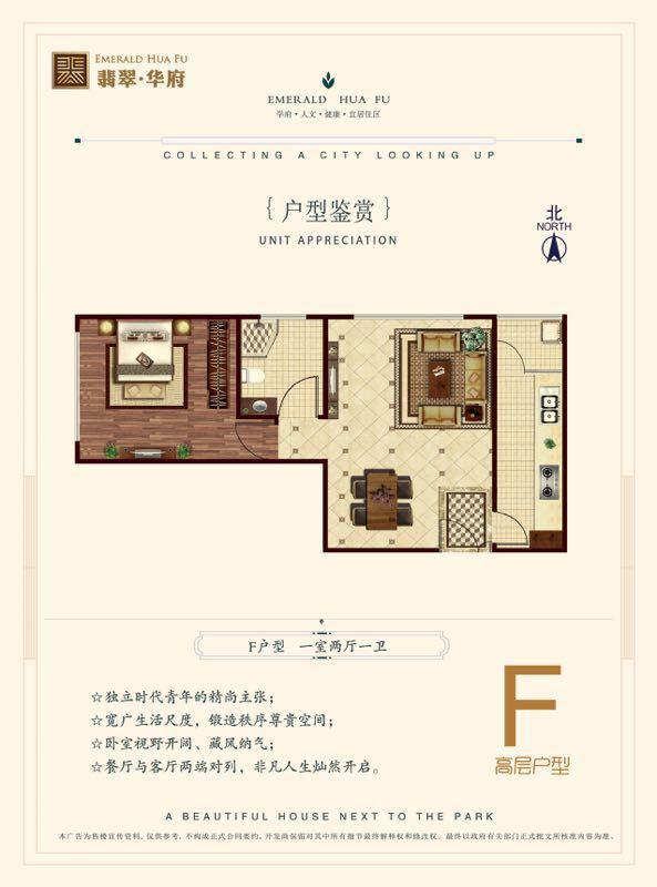 F户型一室两厅