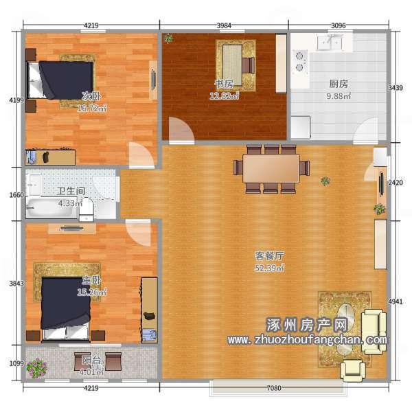 106平3室2厅